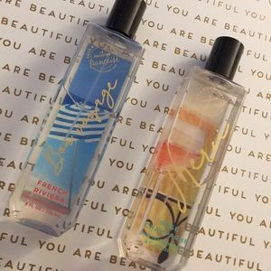 Two fragrances from bath and body works